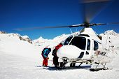 foto of rotor plane  - Heli Skiing Helicopter - JPG