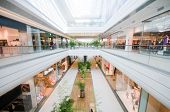 stock photo of shopping center  - Modern shopping mall - JPG