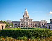 Постер, плакат: Техас государственного Капитолия здание в центре города Остин штат Техас Остин — капитала город Техас