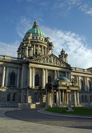 image of city hall  - city hall and grounds belfast northern ireland opened in 1906 built in the renaissance style from portland stone