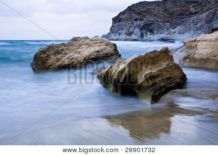Long exposure in the coast of Almeria, Spain.