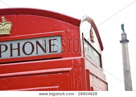 Typical red box phone, London.