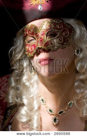 Woman In Mask - Light And Shadow