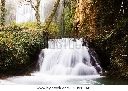 Beautiful waterfalls in the forest.
