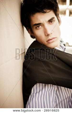 Young businessman close up portrait