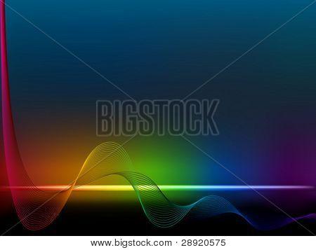 Linhas de onda de arco-íris