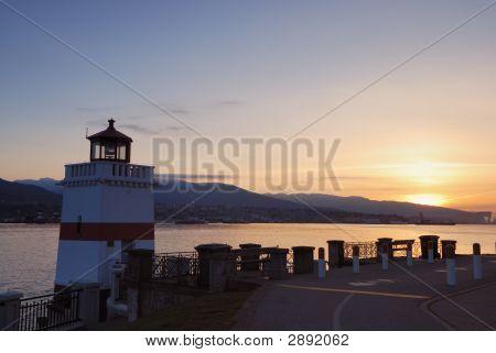 Brokton Lighthouse At Sunrise