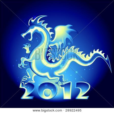 2012 year design with a Dragon