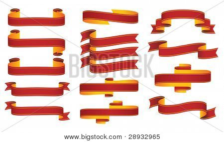 Banners Scrolls Ribbons vector illustration