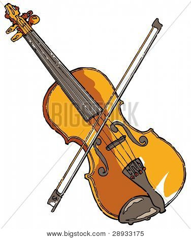 Violin - editable vector illustration