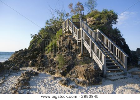 Stairs Pass Cape Byron Bay