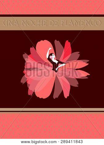 Spanish Flamenco Dancer Dressed In