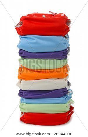 pile of reusable diaper