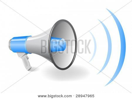 Vector illustration of a bullhorn / megaphone