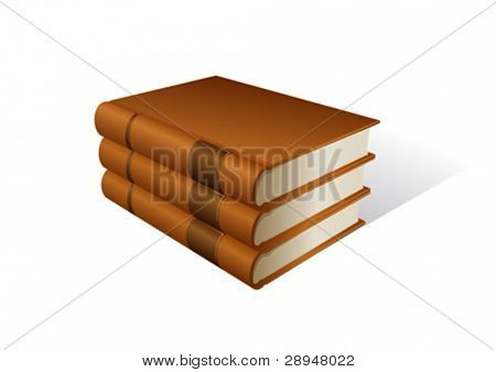 Vector illustration of book stack