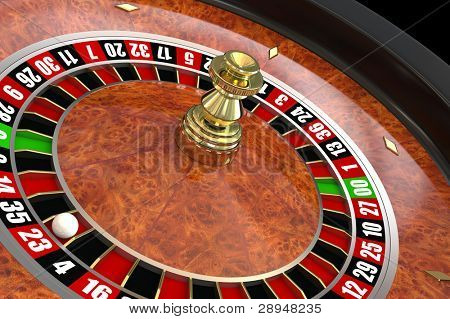 Casino roulette. Computer generated image