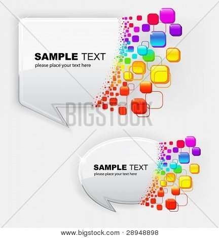 Vector illustration of abstract colorful bubbles speech