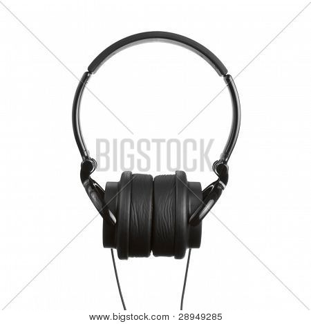 Pair Of Headphones Isolated On A White Background
