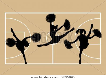 Cheerleaders Basketball 2