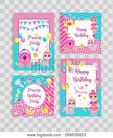 Happy Birthday Set Greeting Or