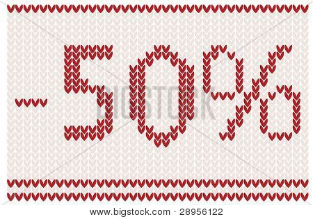 Sale background knitted design - 50% off