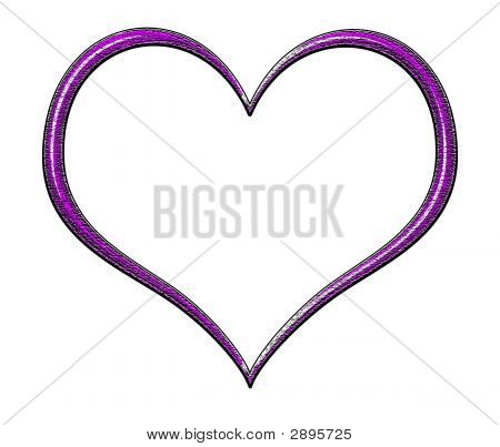 Purple Textured Heart Frame