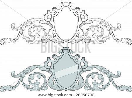 Heraldic Crest With Shield.