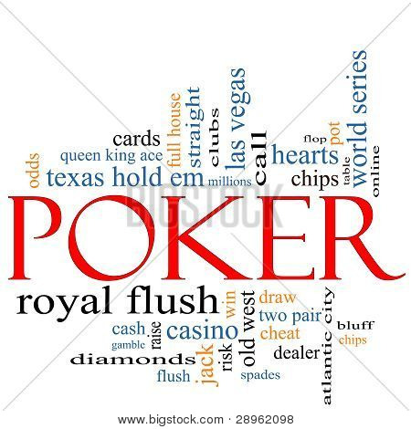 Poker Word Cloud Concept