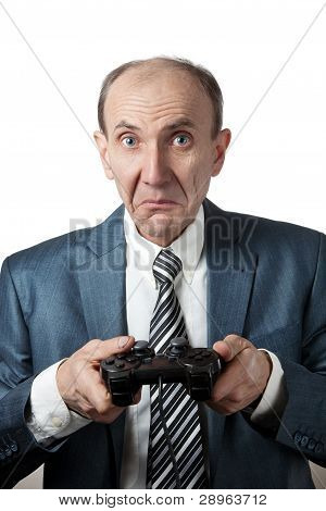 Displeased Man With Joypad