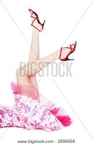 Legs In Red Stilettos