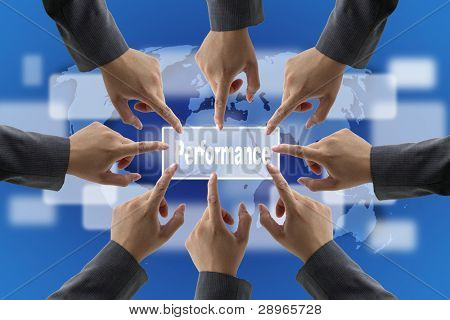 A diverse business teamwork do World Performance Evaluation Audit