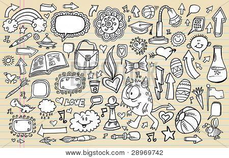 Notebook Doodle Sketch Vector Illustration Art