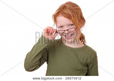 Girl Wearing Glasses