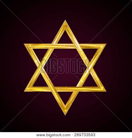 Jewish Star Of David Golden