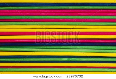 Colorful Background With Sticks