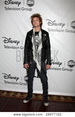 LOS ANGELES - JAN 10:  Nicholas Roux arrives at the ABC TCA Party Winter 2012 at Langham Huntington Hotel on January 10, 2012 in Pasadena, CA