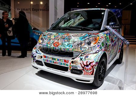 Artist Painted Smart Car 2012 Naias