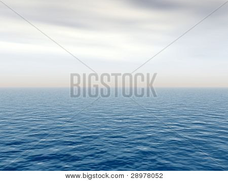 High resolution blue water and sky with clouds background,ideal for nature and summer designs