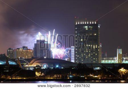 San Diego Downtown Fireworks
