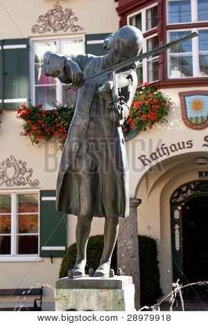 Mozart Statue In St. Gilgen, Austria
