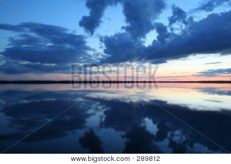 Sunset Over Lake Rekyva