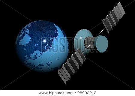 Satellite and world