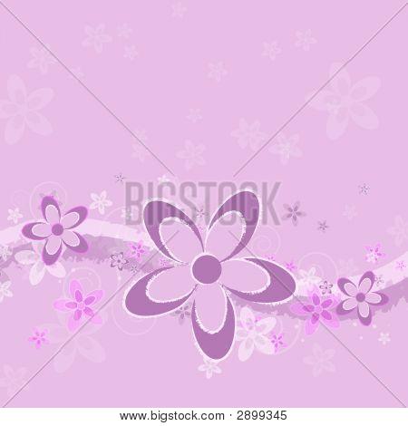 Lavender Grunge Flower Background