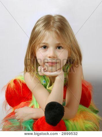 Attentive Scrutiny Of Little Blond Girl