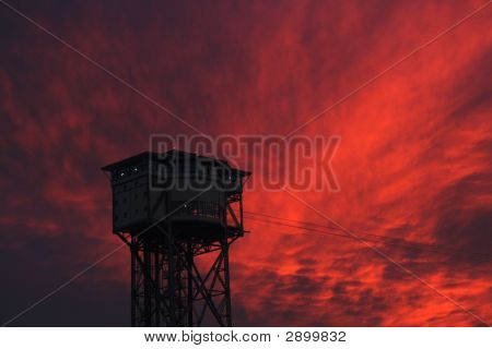 Sunset On A Tower