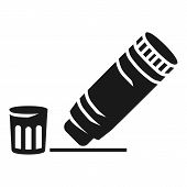 Open Glue Stick Icon. Simple Illustration Of Open Glue Stick Icon For Web Design Isolated On White B poster