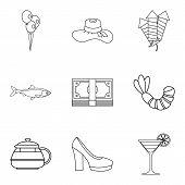 Spirit Icons Set. Outline Set Of 9 Spirit Icons For Web Isolated On White Background poster