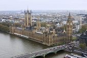 pic of big-ben  - Aerial view of the Big Ben and the Houses of Parliament - JPG