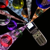 stock photo of vpn  - Cell phone technologies  - JPG