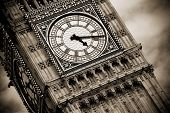 stock photo of big-ben  - London Big Ben over cloudscape - JPG